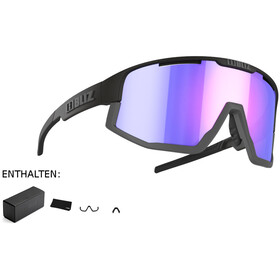Bliz Fusion M12 Brille matte black/matte grey/jawbone violet/blue multi nordic light
